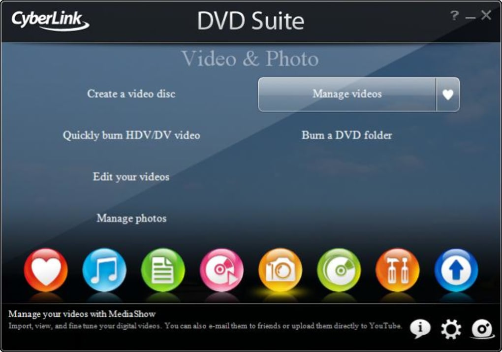 Cyberlink dvd suite download.