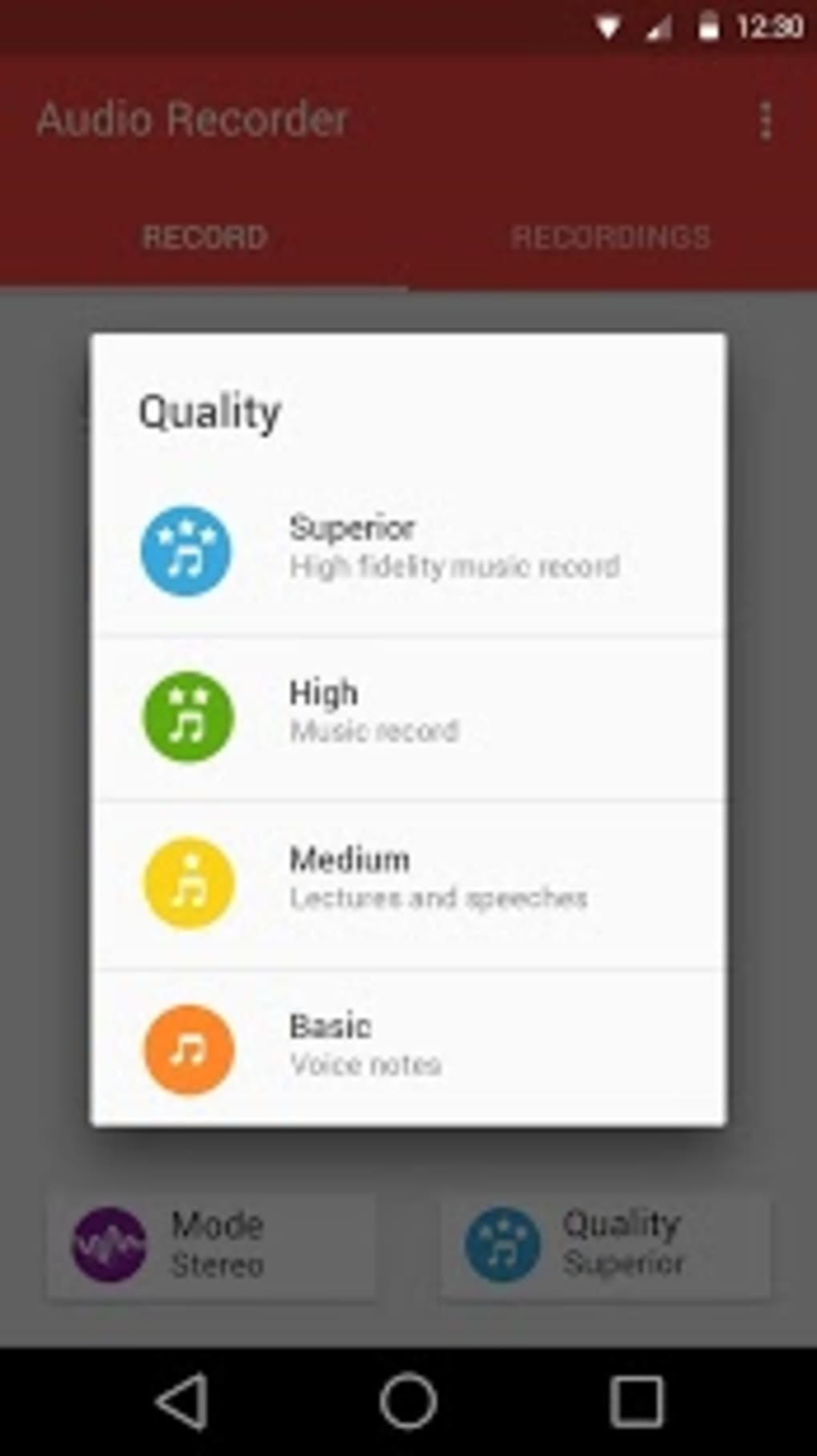 Audio Recorder For Android Download Simple Telephone 1 8 Screenshots