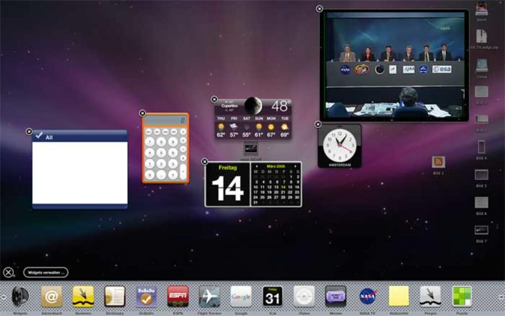 NASA TV Widget for Mac - Download