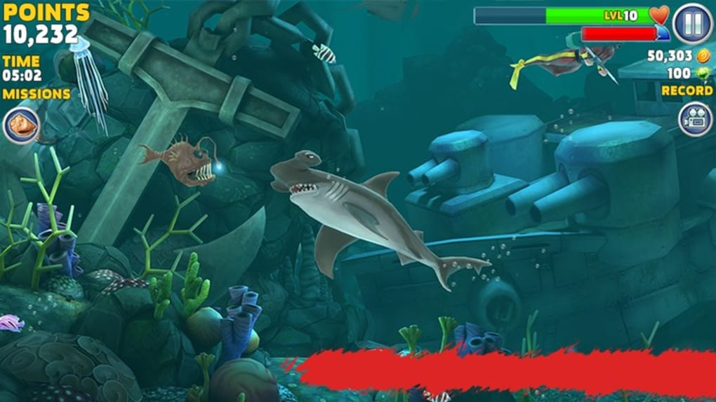 download hungry shark evolution mod apk for pc