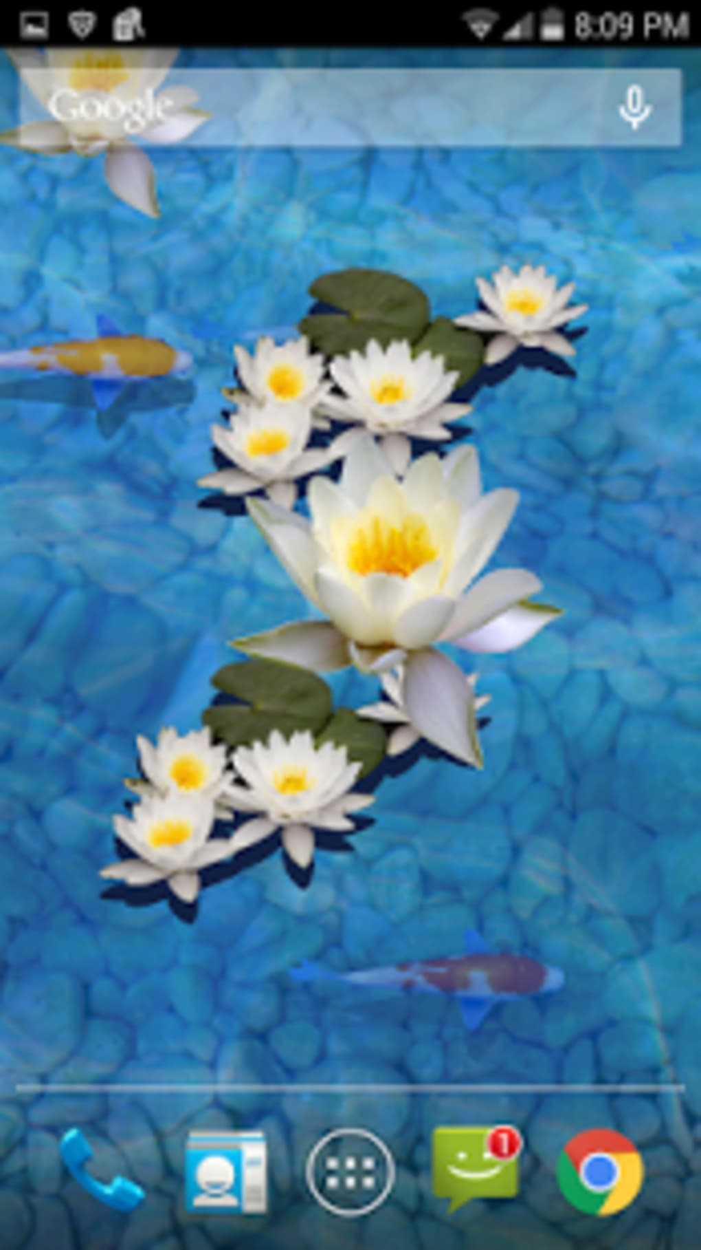 3D Fish Pond Live Wallpaper 1 7 Screenshots