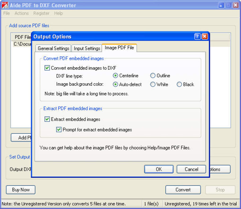 Aide PDF to DXF Converter - Download