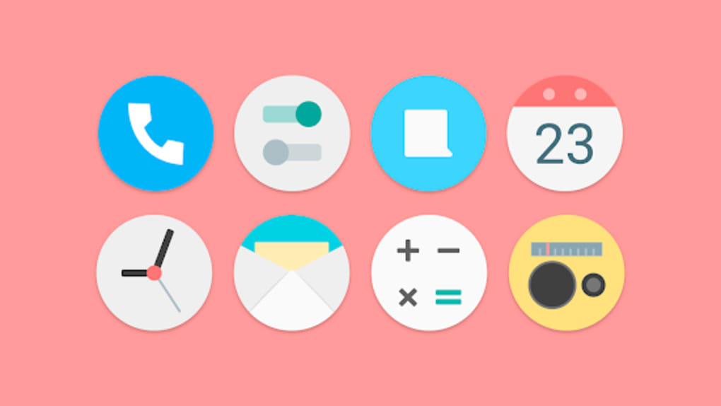 Flat Pie - Icon Pack for Android - Download
