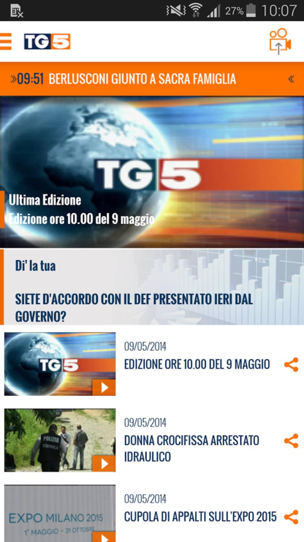 SCARICA TG5 DA