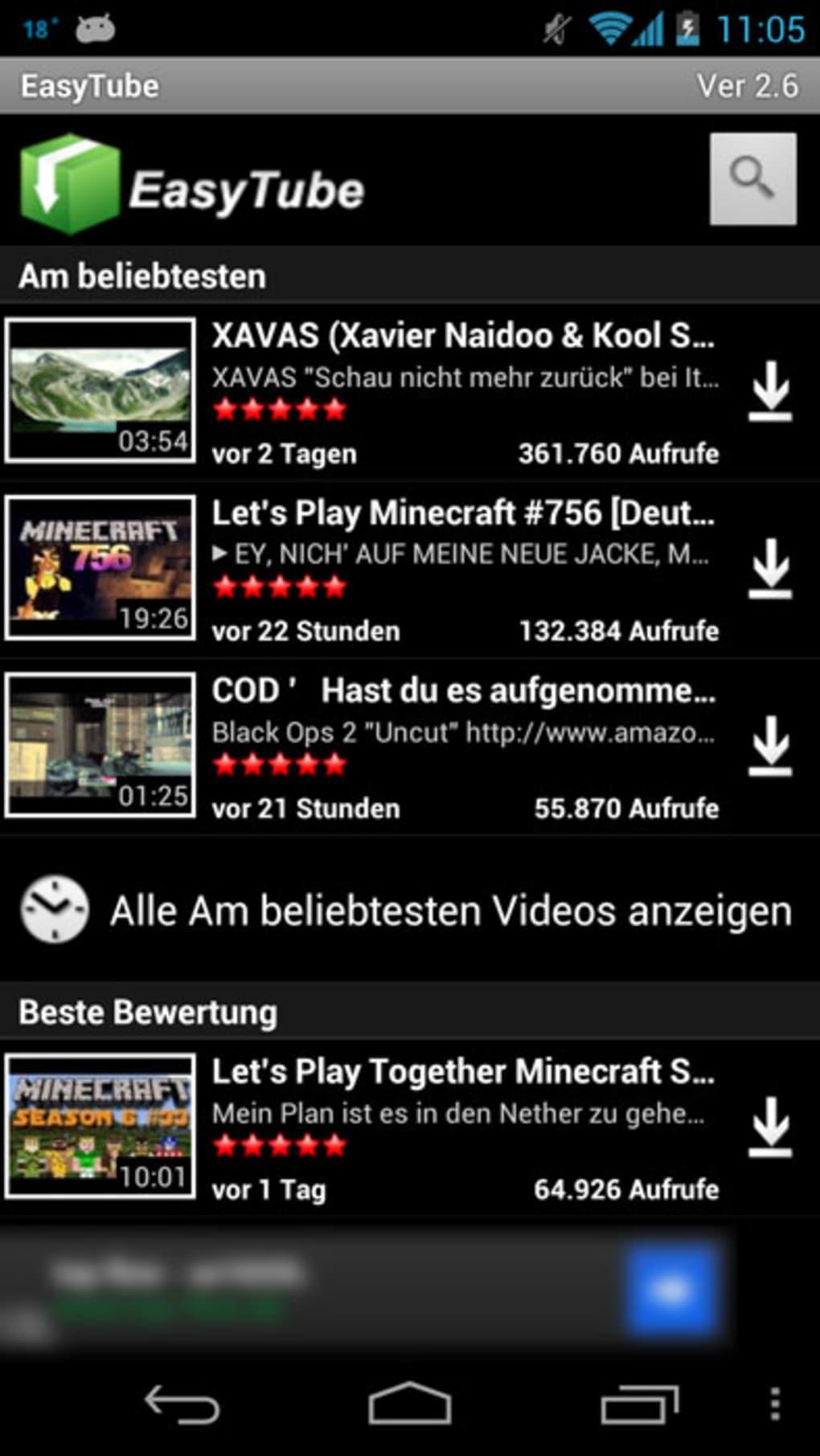 videos herunterladen android