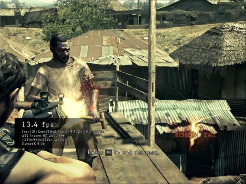 Resident evil 5 pc dx9 vs dx10 benchmark youtube.