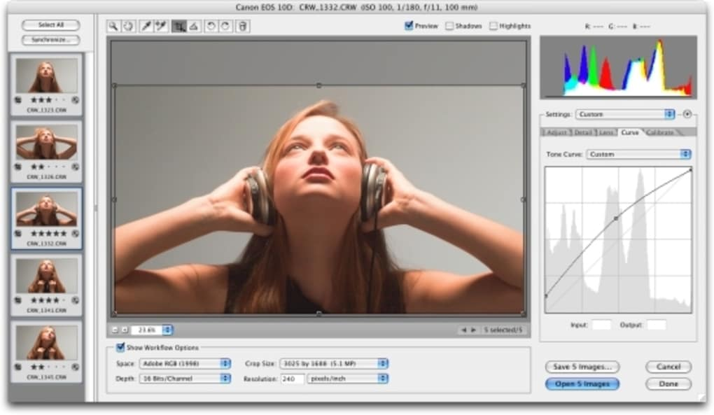 Software provides fast and easy access to the raw image formats