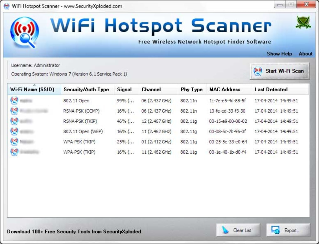 WiFi Hotspot Scanner - Download