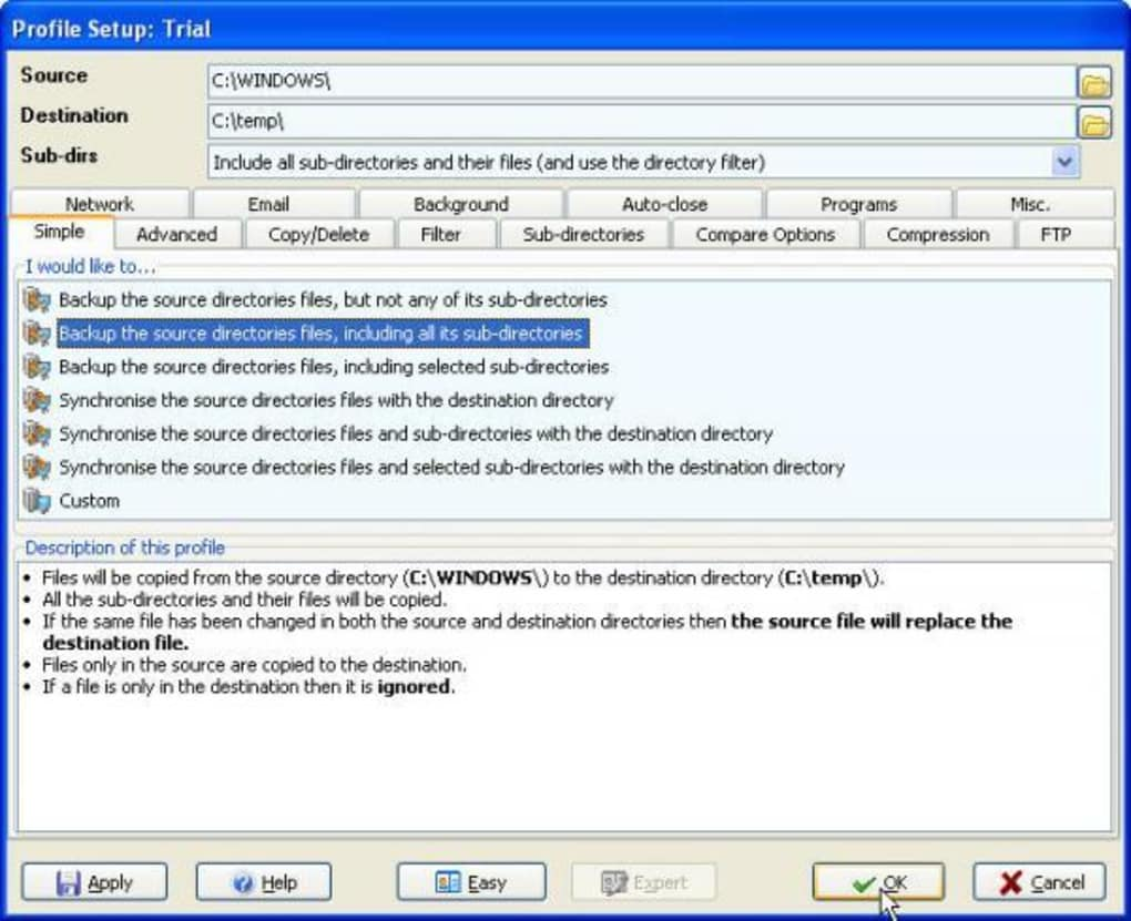 syncbackse download