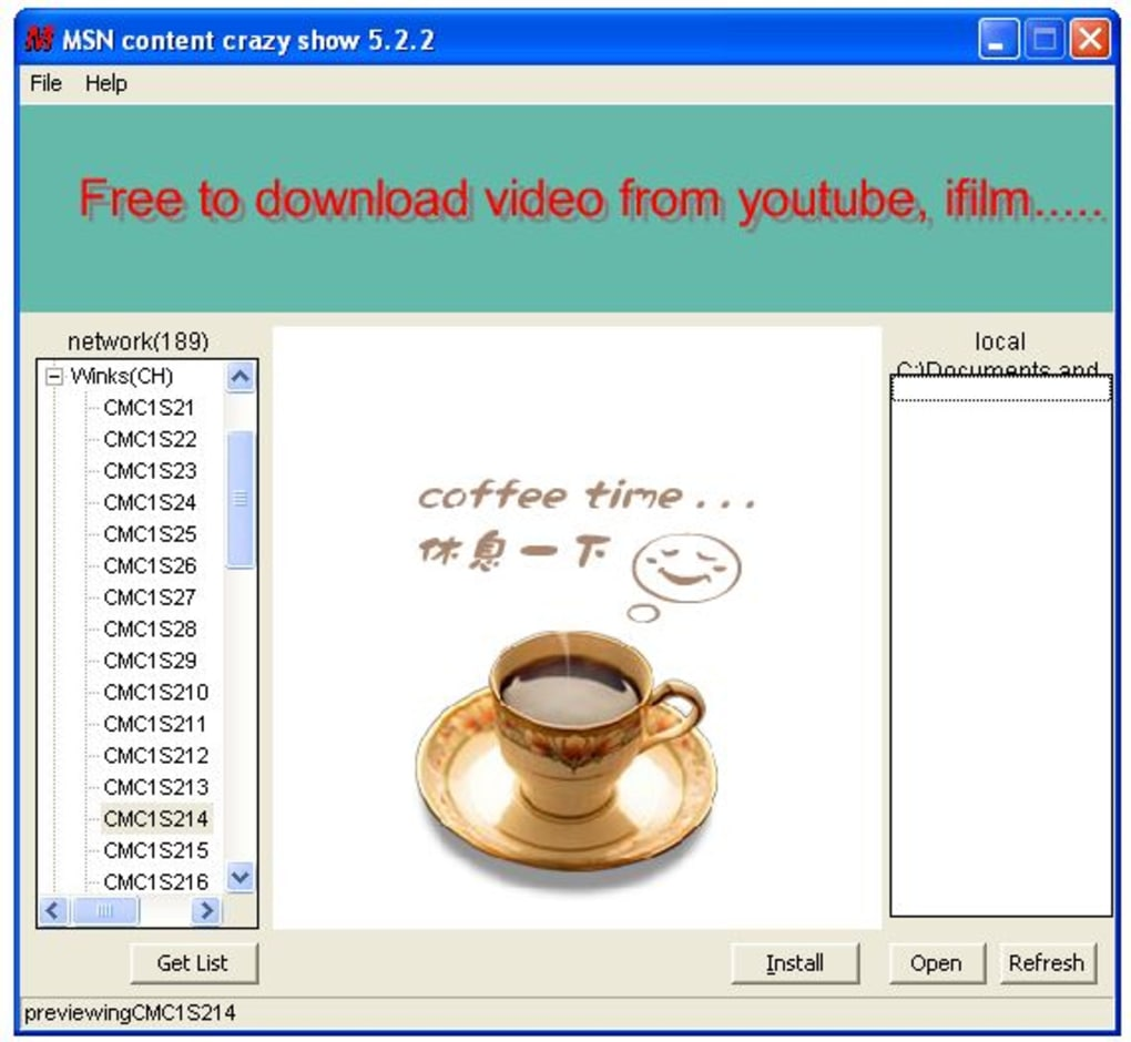 Msn winks plus 5. 4 download for pc free.