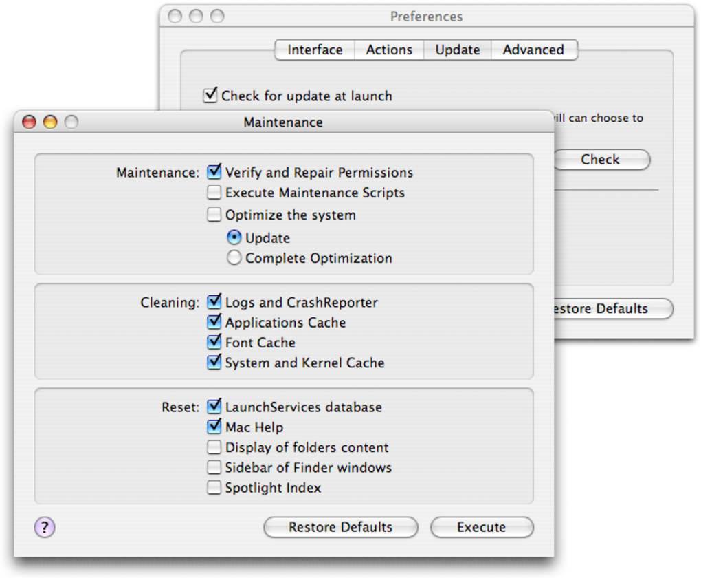 Maintenance for Mac - Download