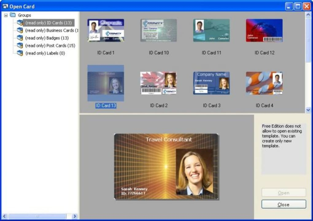 id card software download