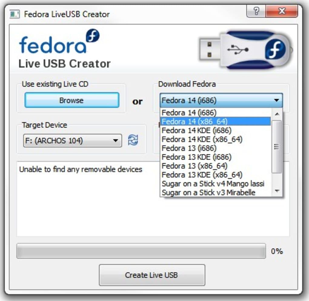 Fedora LiveUSB Creator - Télécharger