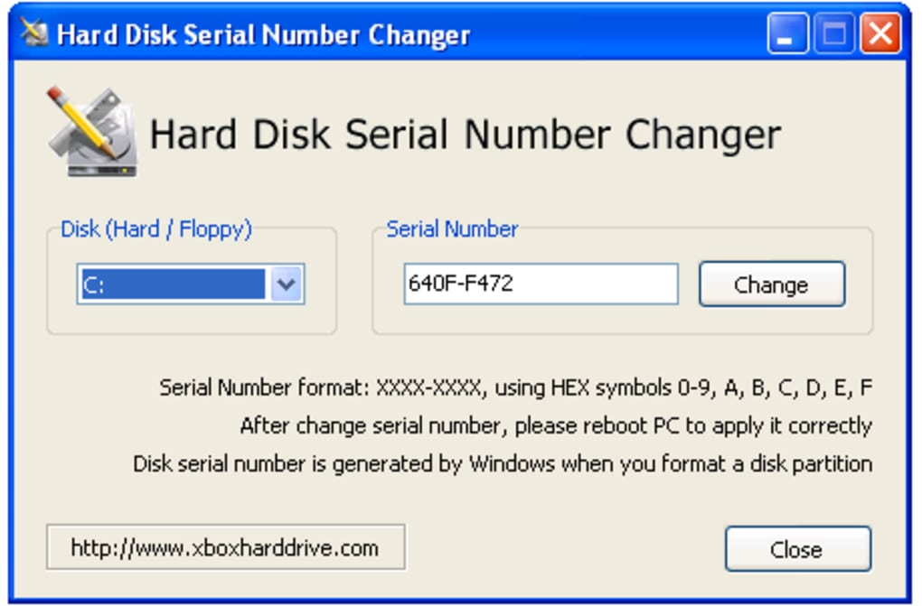 Hard Disk Serial Number Changer - Descargar