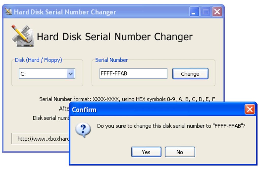 Hard Disk Serial Number Changer - Download