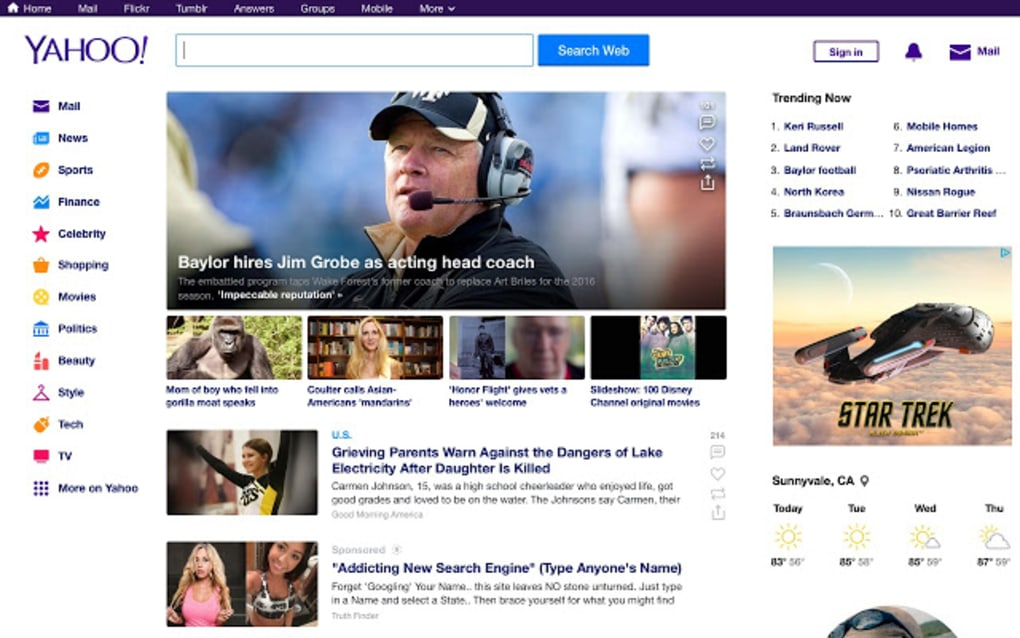 Yahoo Homepage - Download