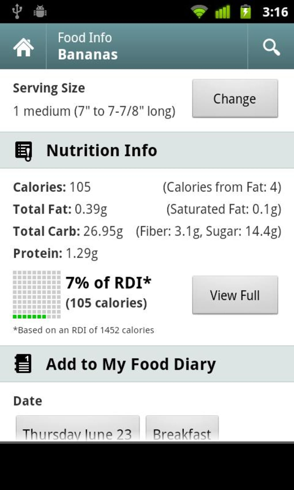 Calorie Counter for Android - Download