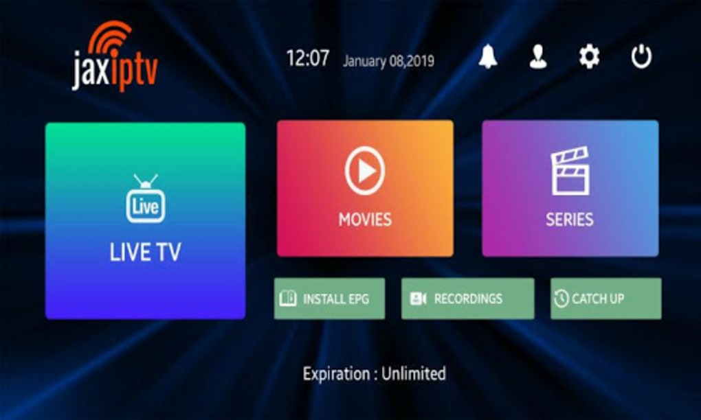 JAX IPTV Player for Android - Download
