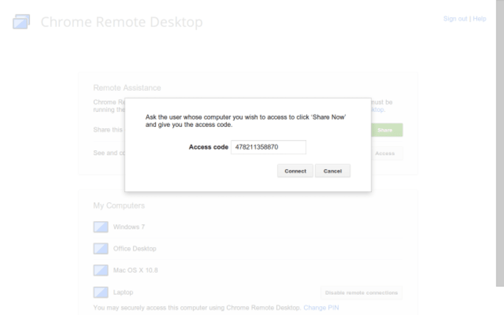 chrome remote desktop extension for mac