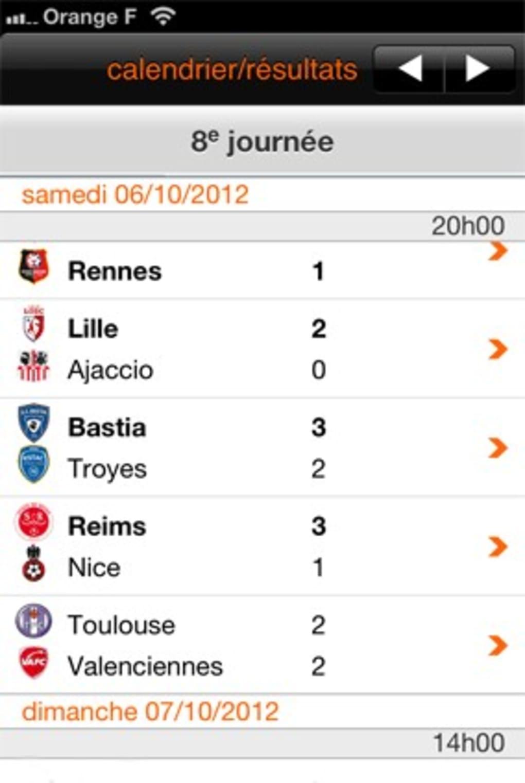 Calendrier Et Resultats Ligue 1.Ligue 1 Pour Android Telecharger