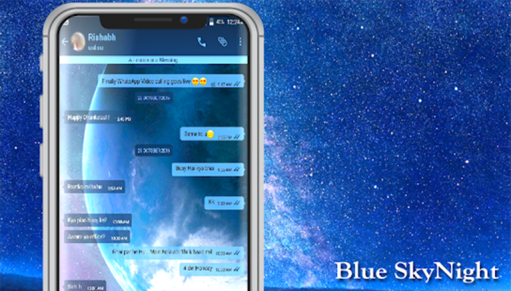 GB WA Warna Biru Terbaru APK untuk Android - Unduh