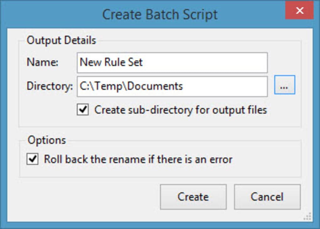 Batch File Rename - Download