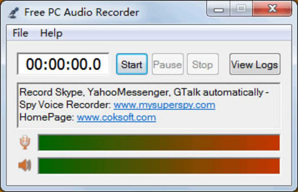 Free PC Audio Recorder - Download