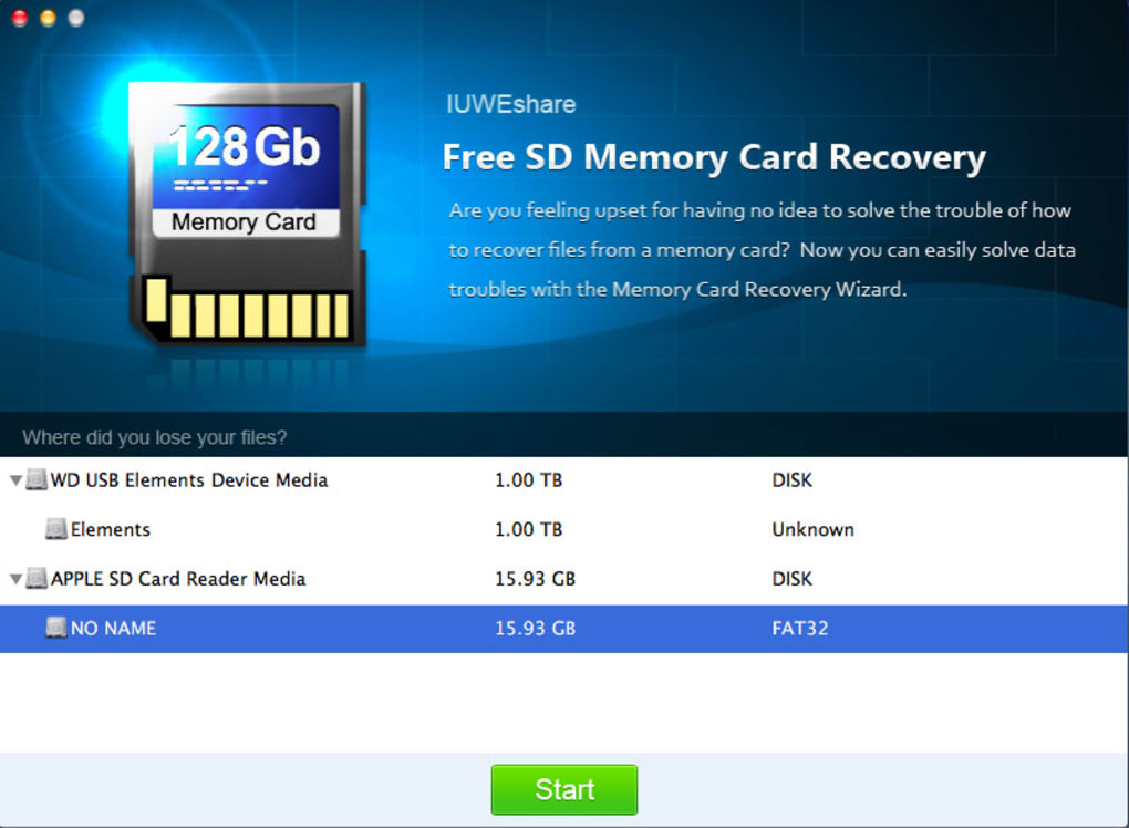 recover sd card free mac
