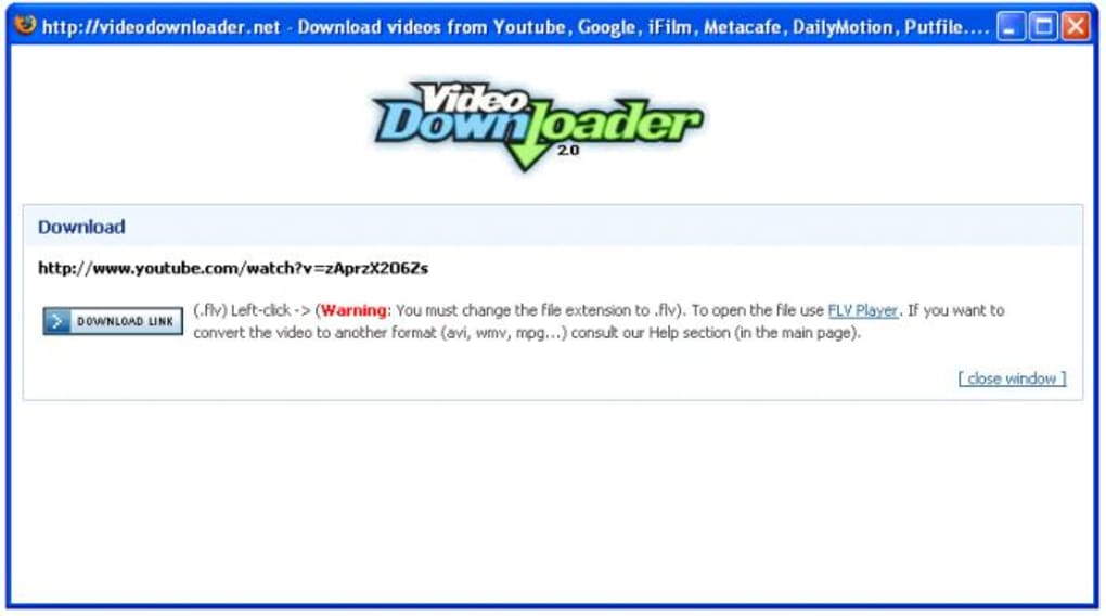 Firefox VideoDownloader - Download