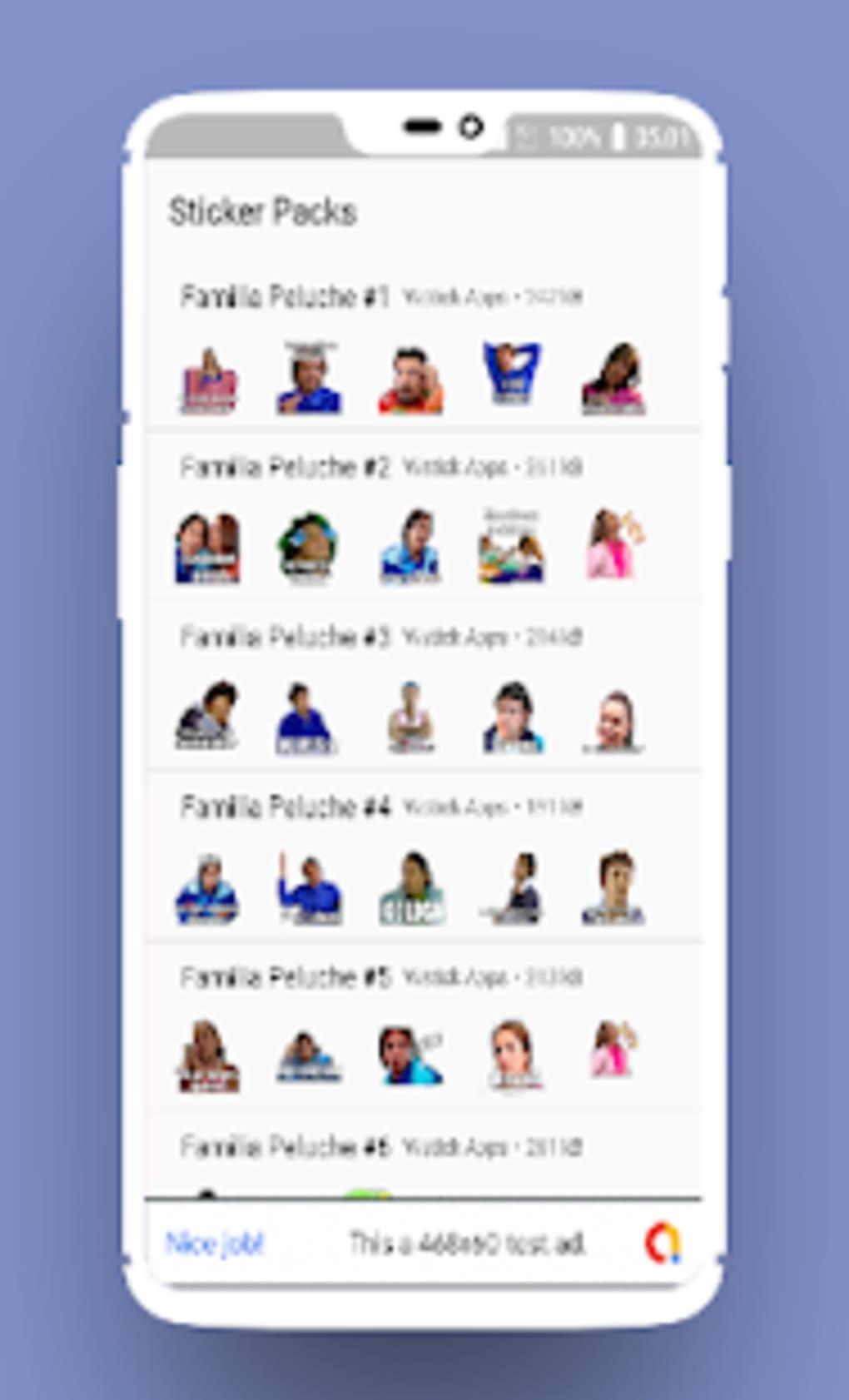Stickers De La Familia Peluche Para Whatsapp Apk Para Android Descargar Los recursos gráficos como los emojis o gifs son de lo más usado en las apps de mensajería. stickers de la familia peluche para