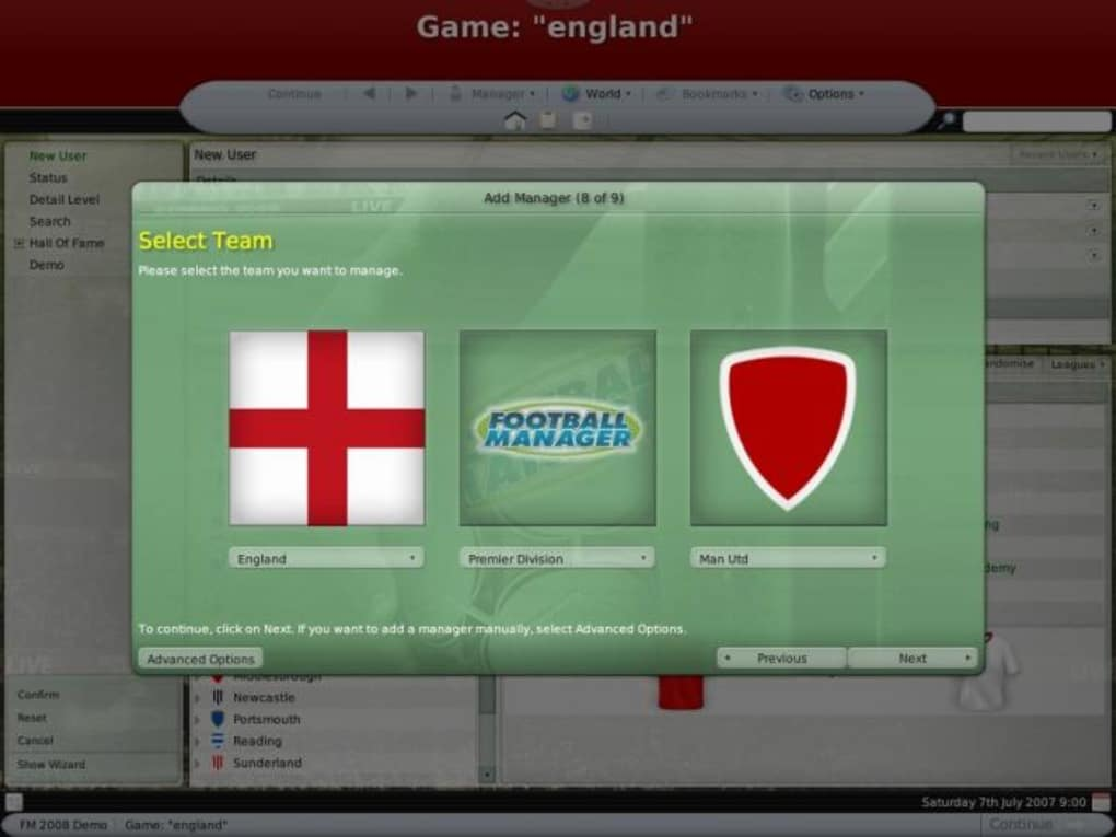 football manager 2008 download torent pc