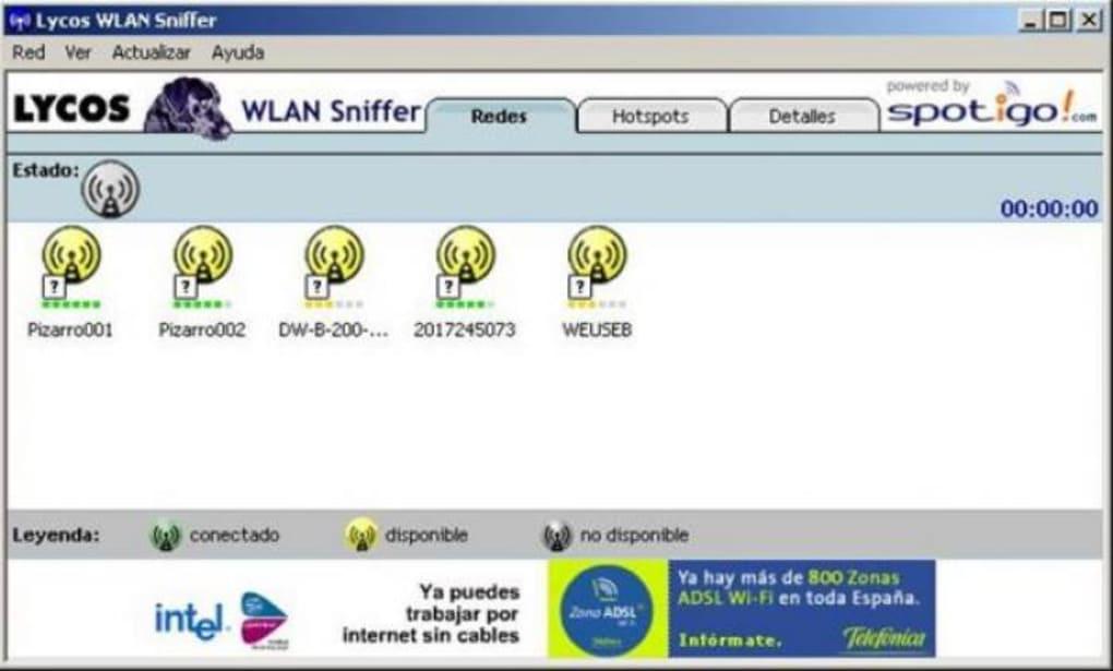 DESCARGAR LYCOS WIFI SNIFFER WINDOWS XP