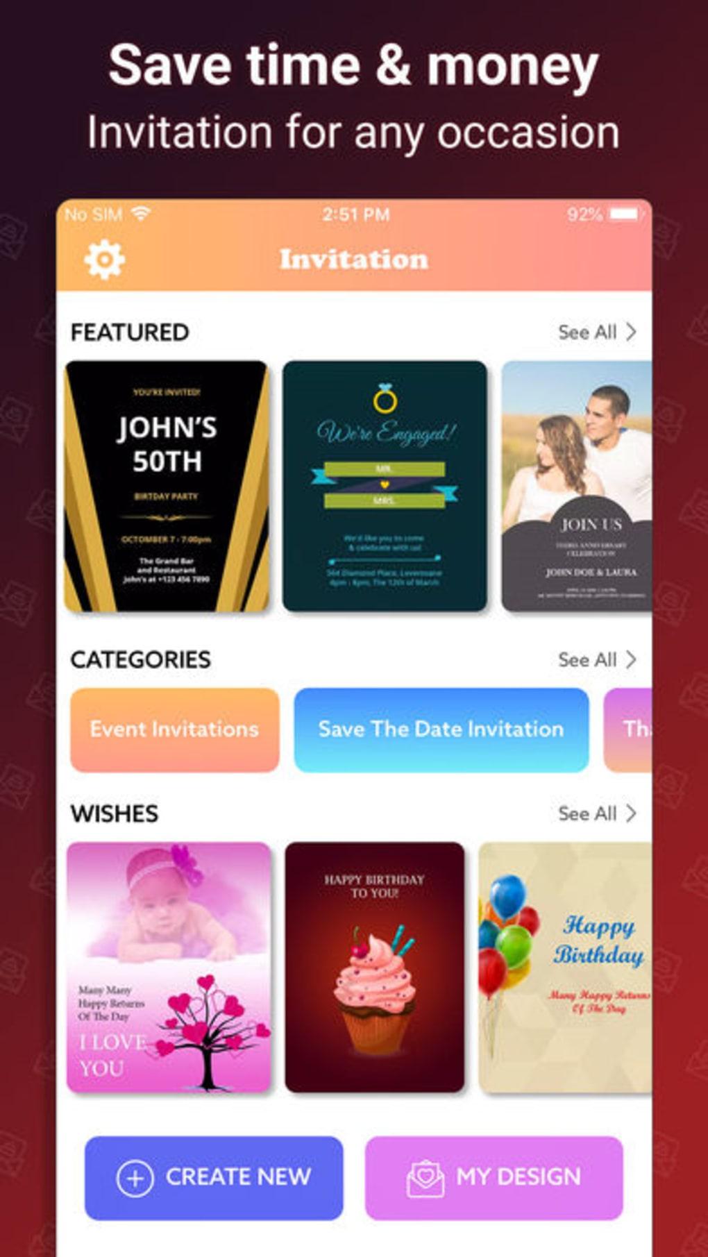 Invitation Card Maker Ecards