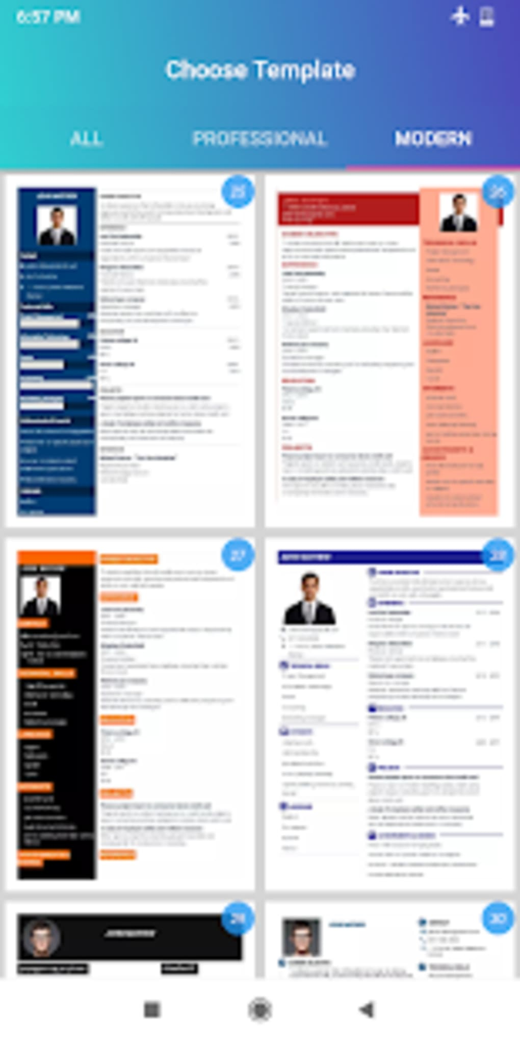 Resume Builder App Free CV maker CV templates 2019 لنظام Android - تنزيل