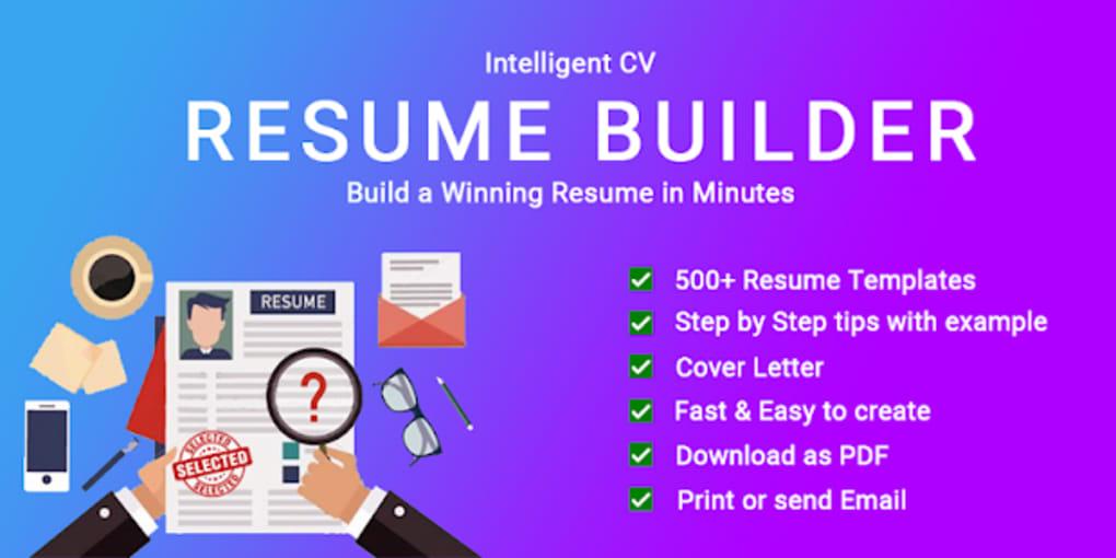 resume builder cv maker app free cv templates 2019 for