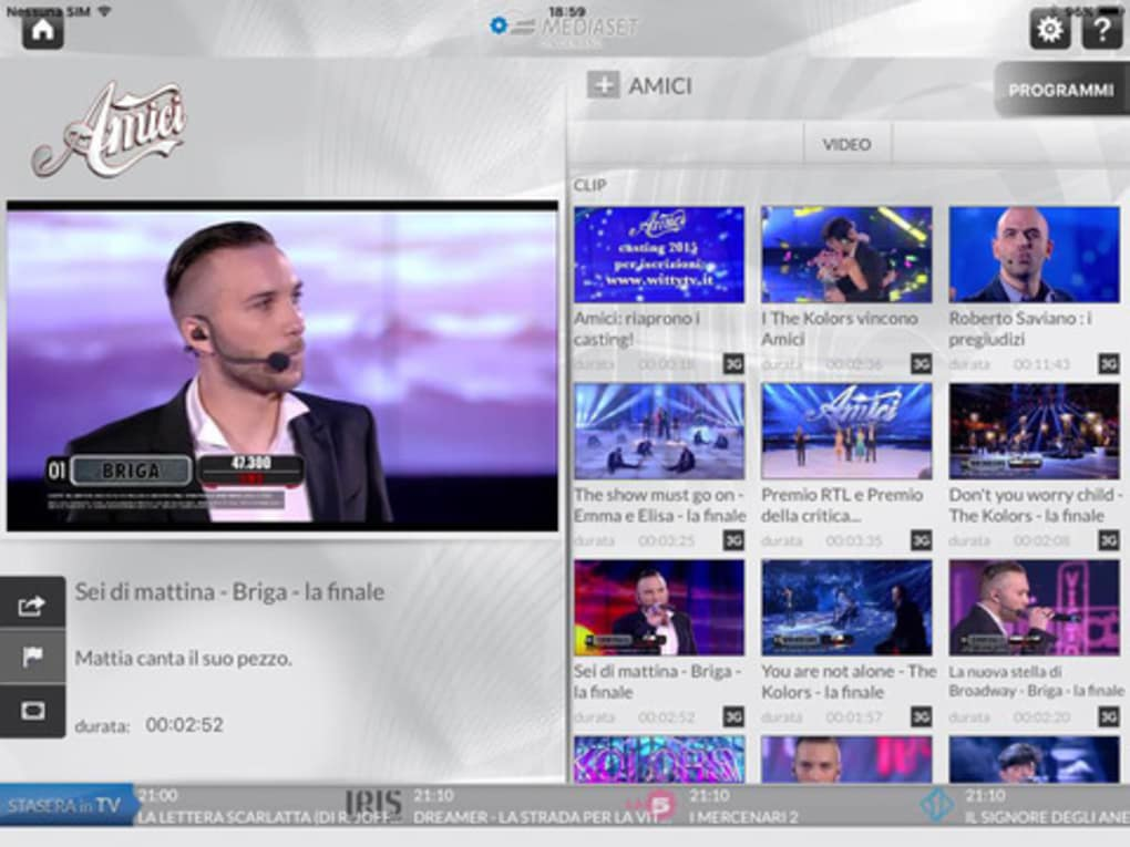 video da mediaset iphone