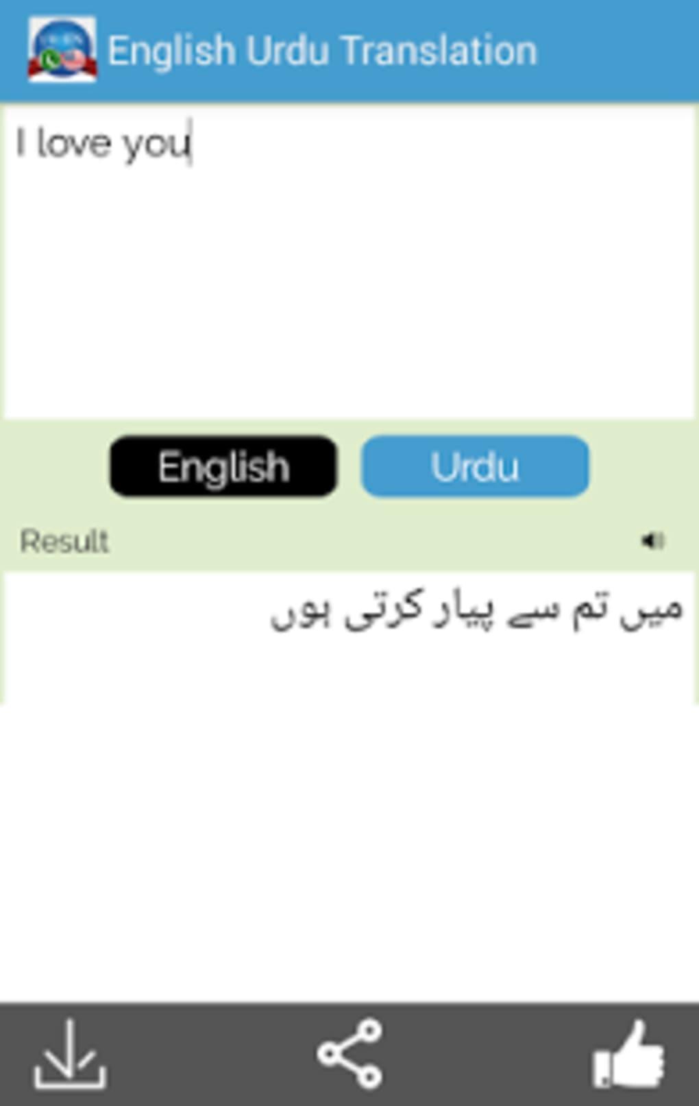English to urdu dictionary.