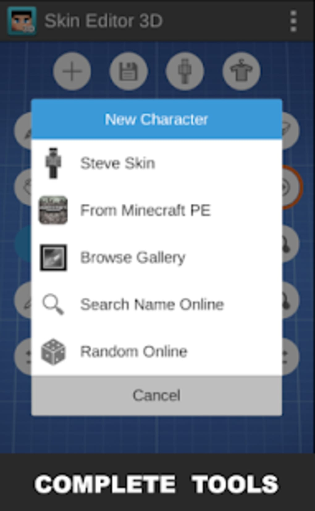 Skin Editor 3D for Minecraft para Android - Download