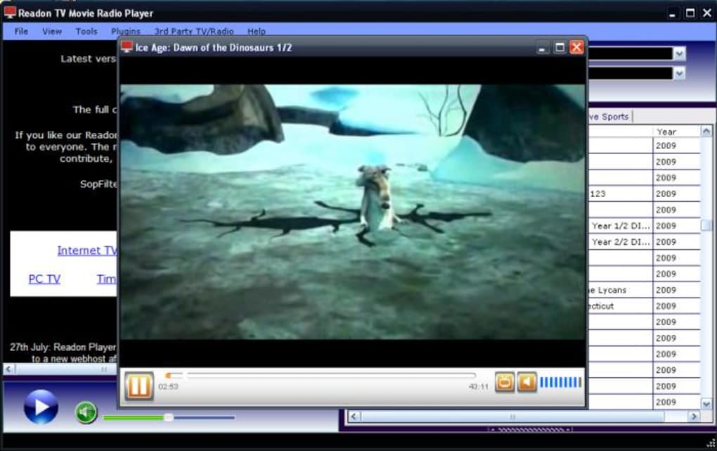 readon tv player gratuit