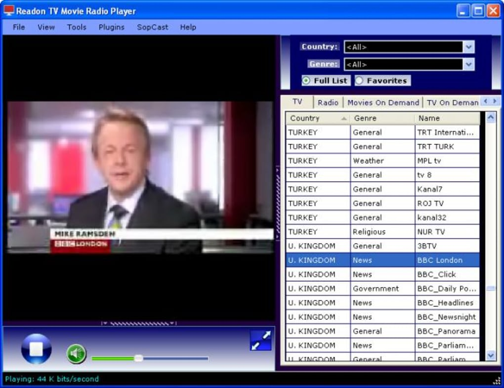 readon tv movie player gratuit