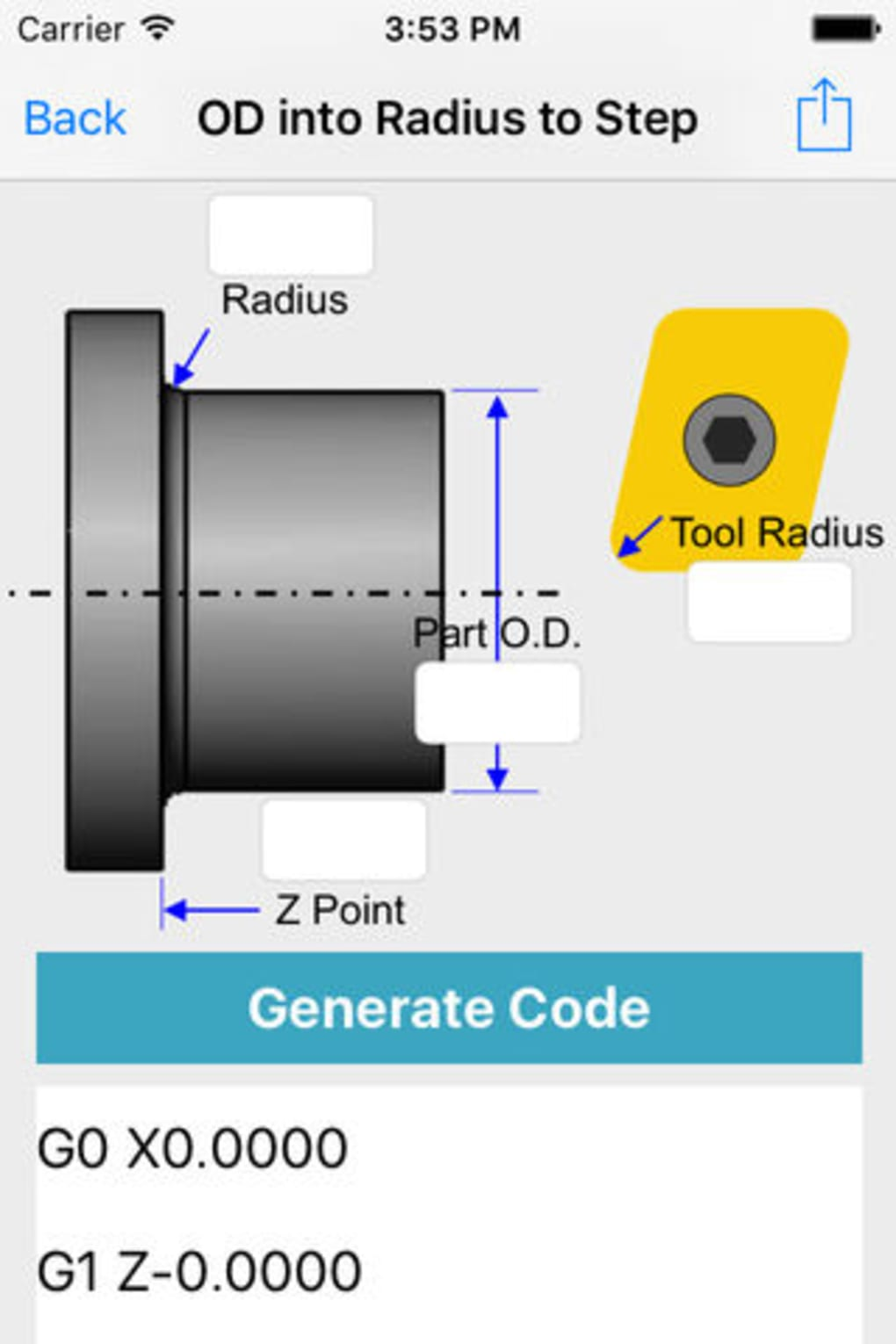G Code Generator OD CNC for iPhone - Download