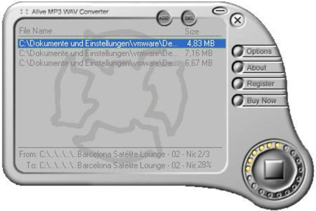 Alive MP3 WAV Converter (free version) download for PC