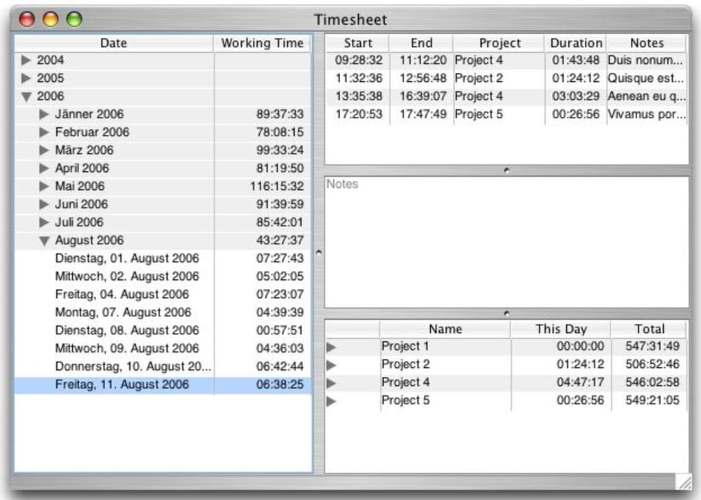 timesheet for mac download