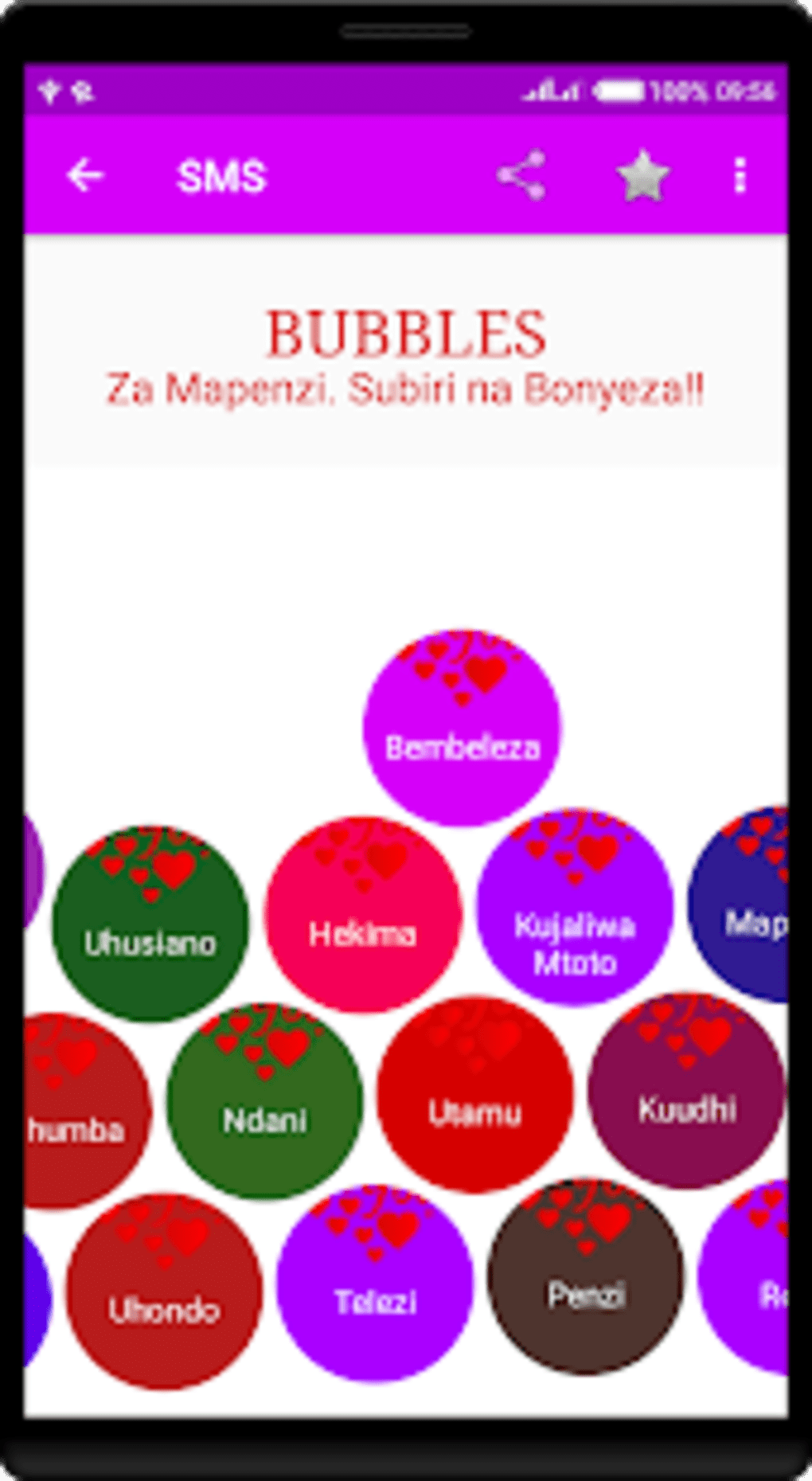 SMS za Bubbles - Mahaba for Android - Download