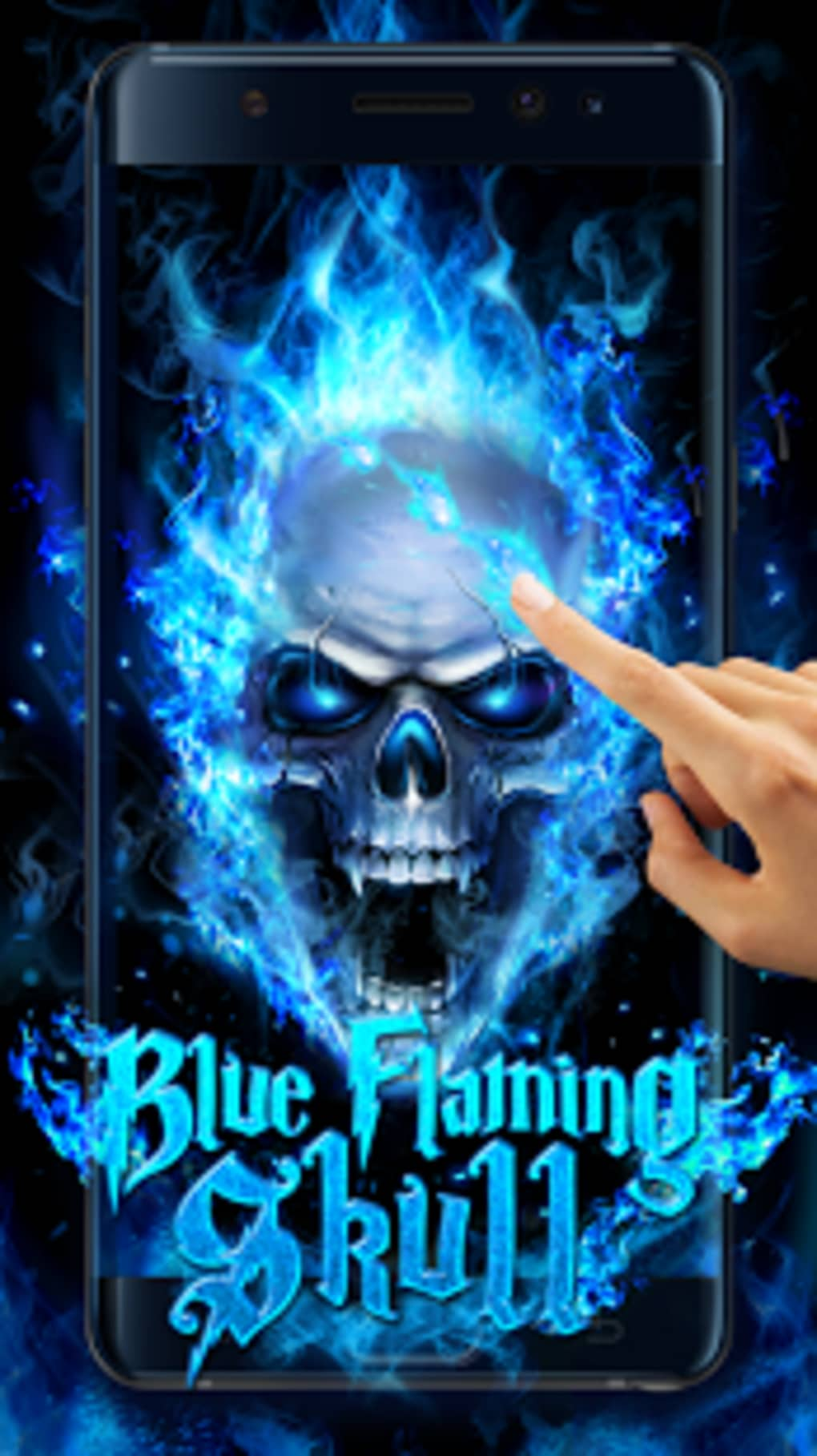 Blue Fire Skull Live Wallpaper Apk For Android Download