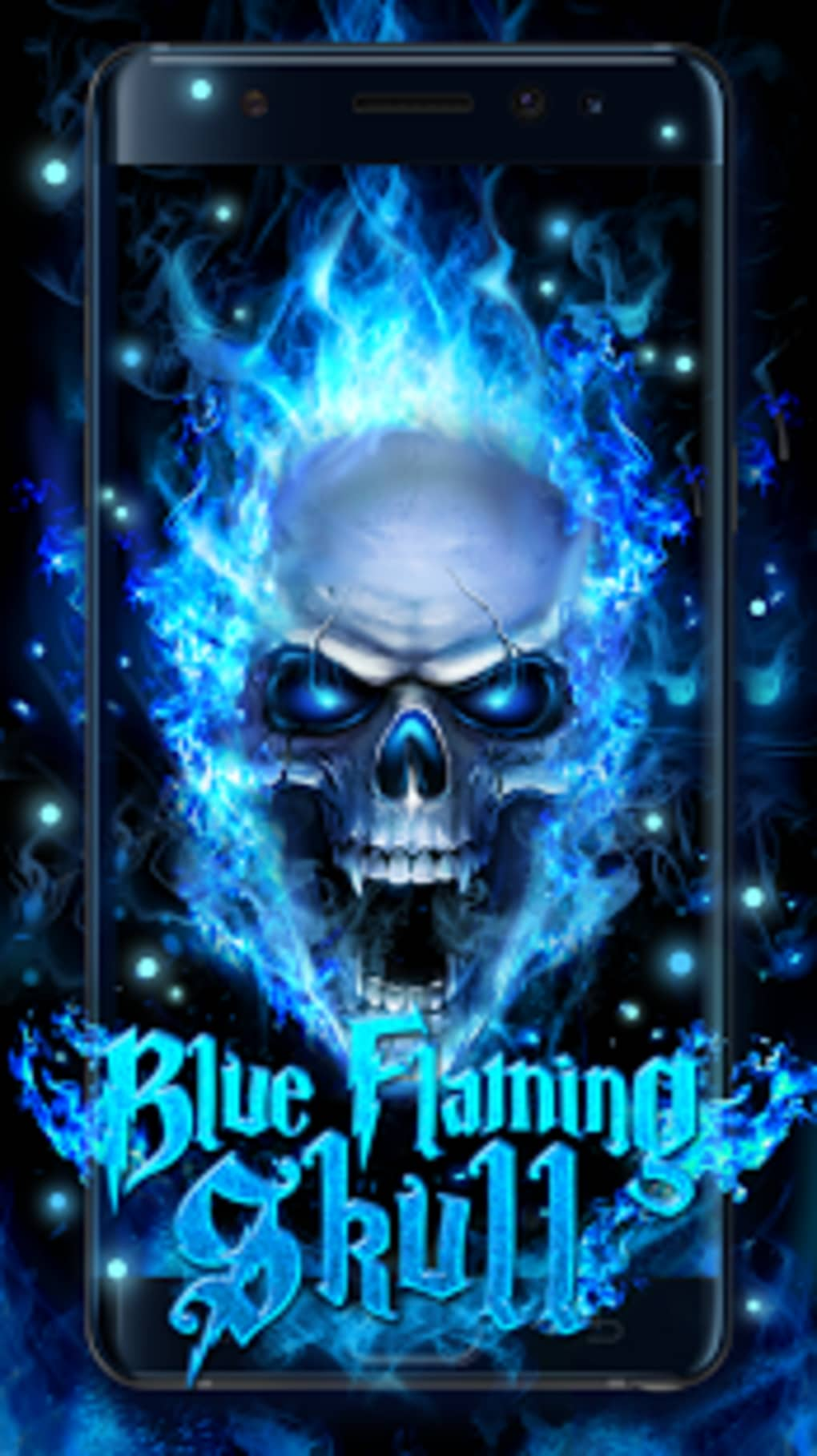 blue fire skull live wallpaper apk for
