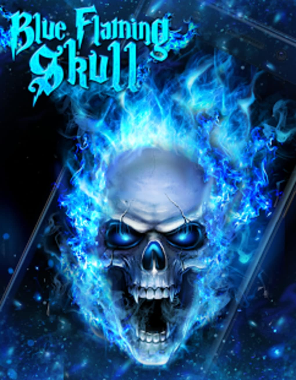 ... Blue Fire Skull Live Wallpaper