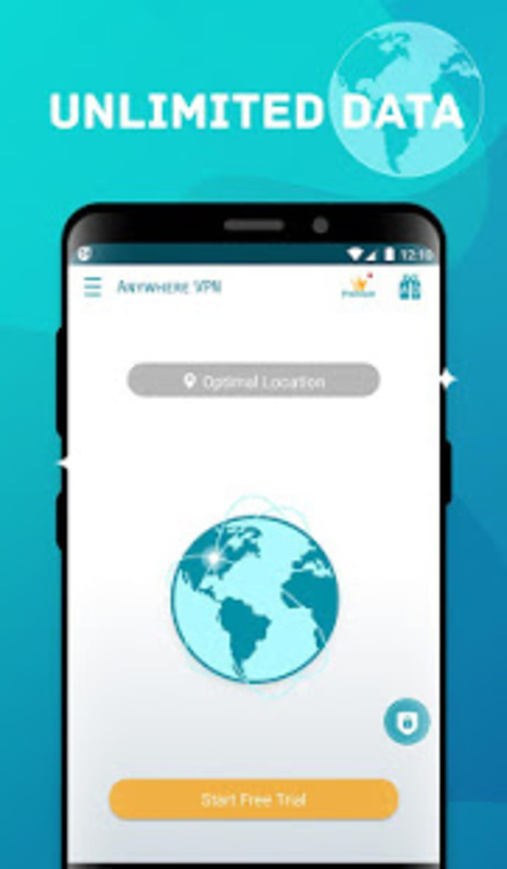 Anywhere VPN -Secure Free Unlimited VPN Proxy WiFi for