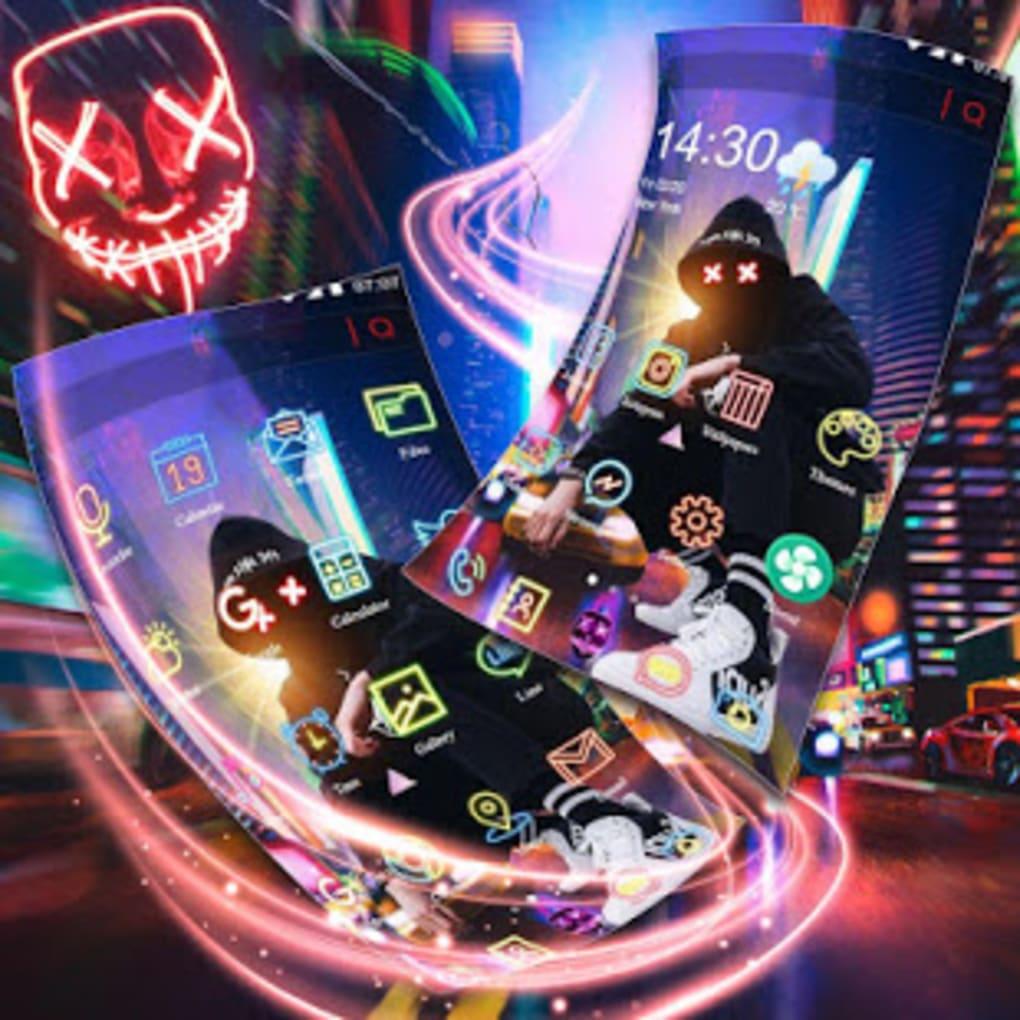 Neon Night Street Man Theme Live Wallpaper Para Android
