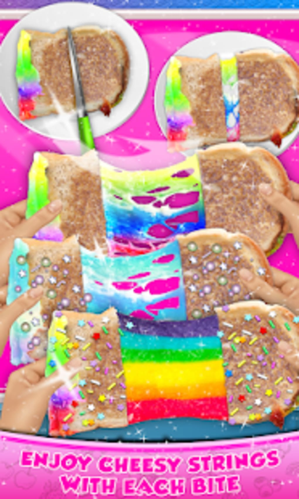Rainbow Grilled Cheese Sandwich Maker DIY cooking